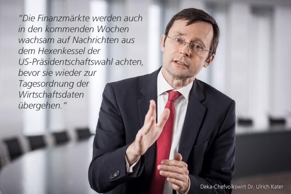 """""""Aktienmärkte im US-Wahlchaos robust"""" – ein Marktkommentar von Dr. Ulrich Kater, Chefvolkswirt der DekaBank"""